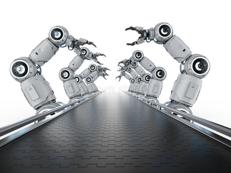 Robotlopende band royalty-vrije illustratie