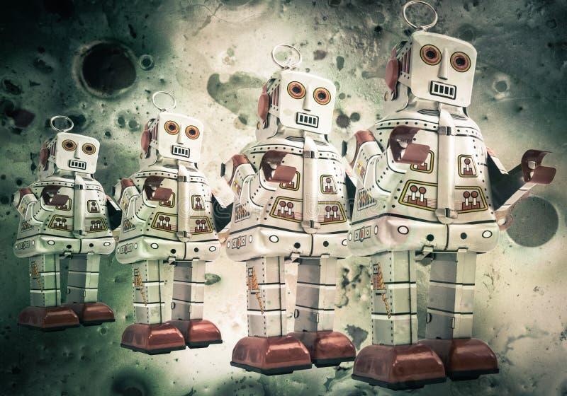 Robotmåne stock illustrationer