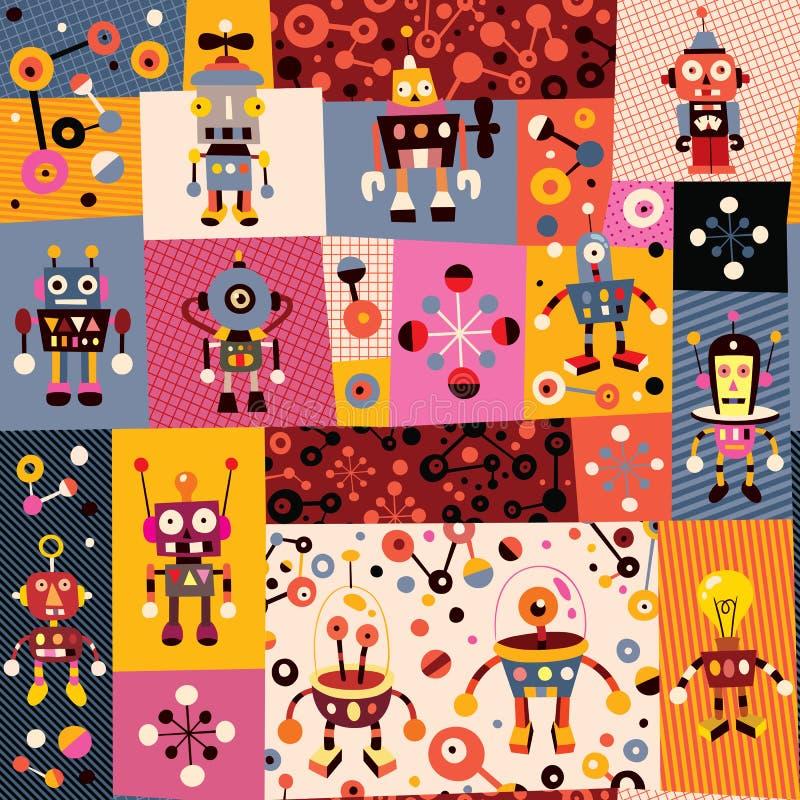 Robotmodell royaltyfri illustrationer