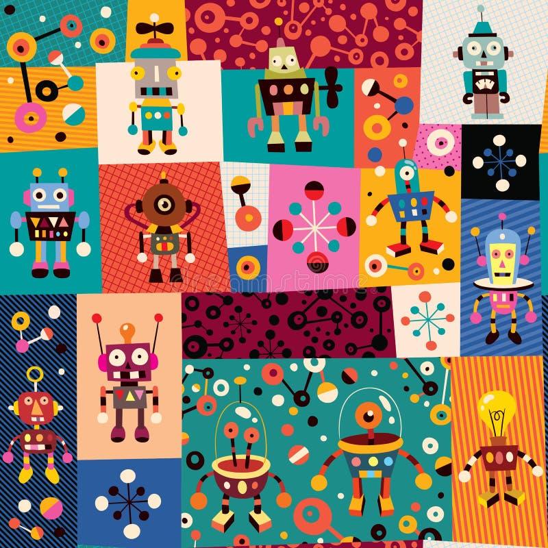 Robotmodell stock illustrationer