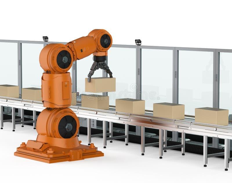 Robotmonteringsband vektor illustrationer