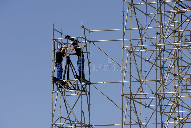 robotników budowlanych fotografia stock