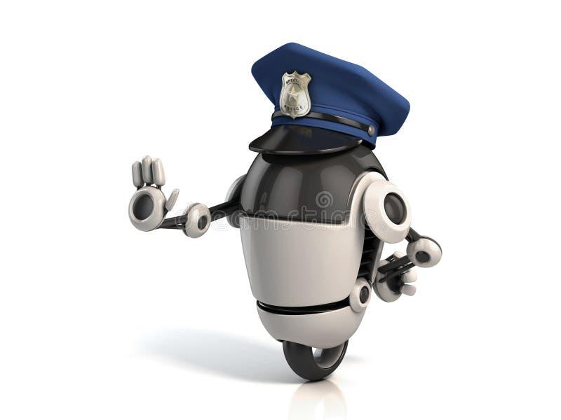 Robotpolis stock illustrationer