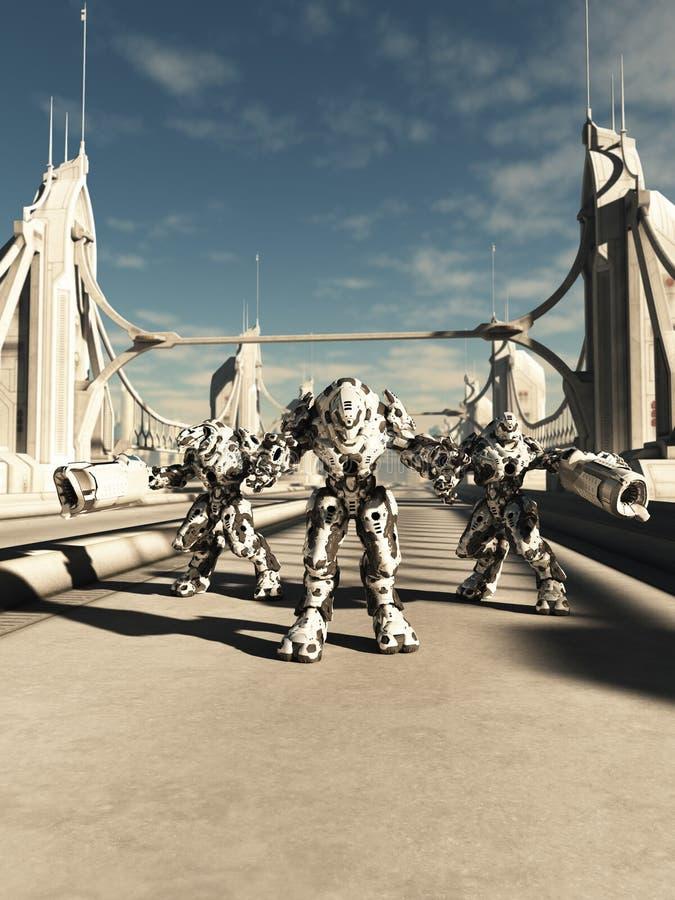 Robots étrangers de bataille - frères d'armes illustration de vecteur
