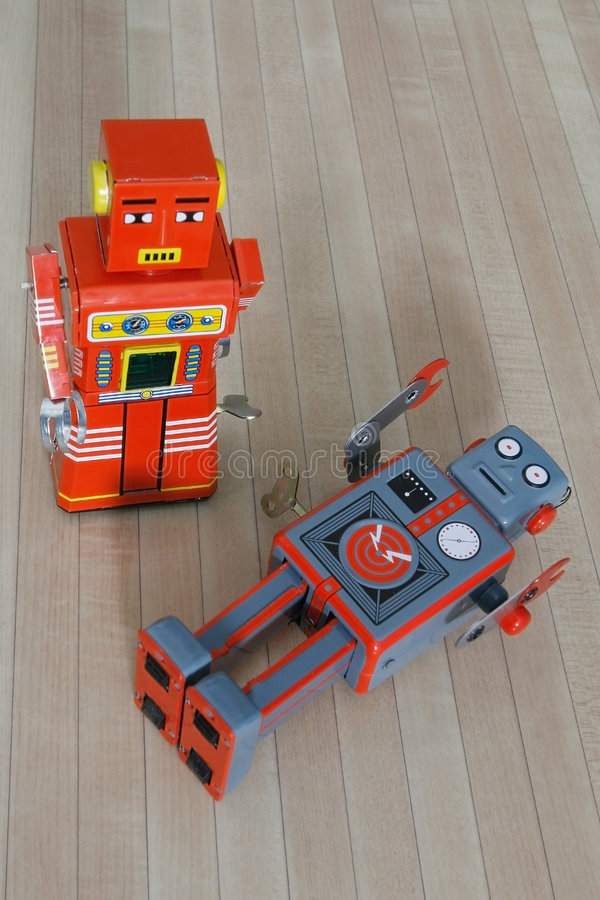 Download Robots stock image. Image of metallic, play, retro, robots - 1453639