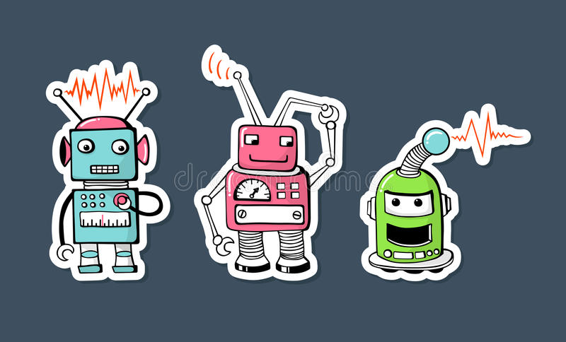 Robots royalty free stock image
