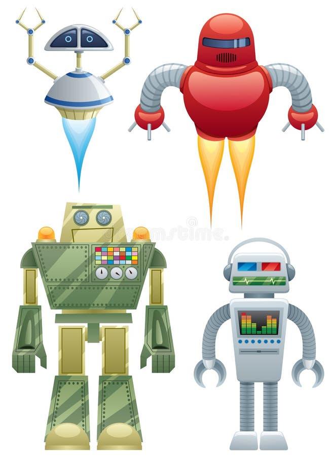 Robots illustration de vecteur