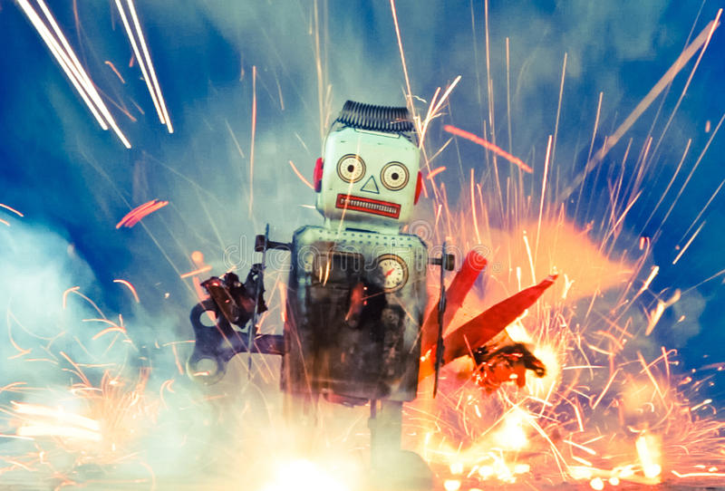 Robots royalty-vrije stock foto's