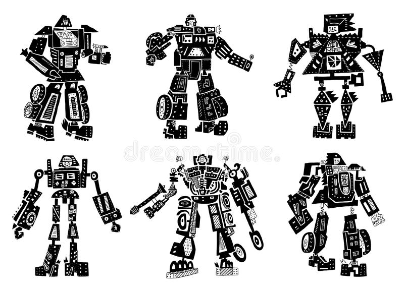 Robots royalty-vrije illustratie