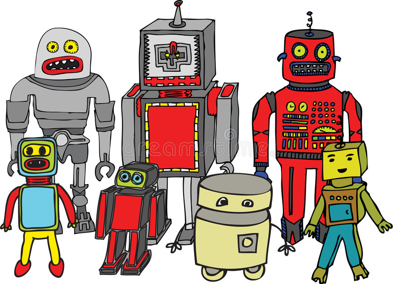 Robots vector illustration