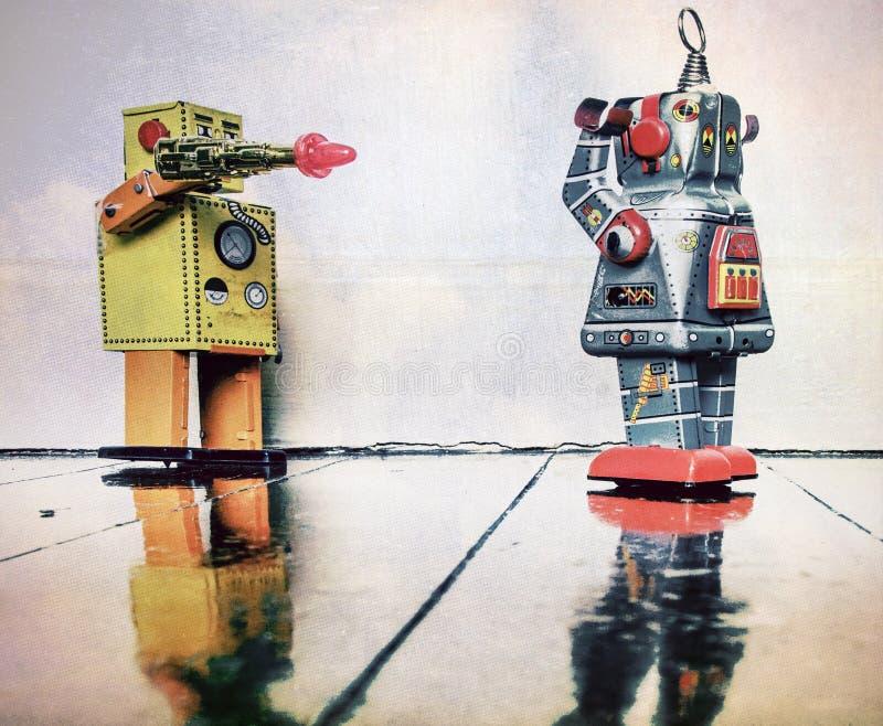 Robots del crim del arma imagenes de archivo
