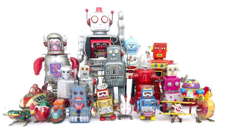 Robots del equipo fotos de archivo