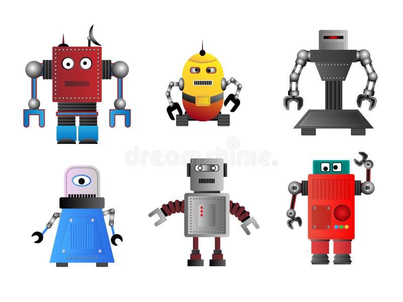 Robots enrrollados del vector stock de ilustración