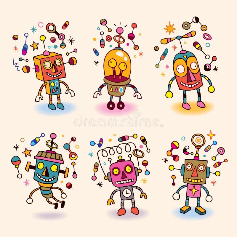 Robots fijados libre illustration