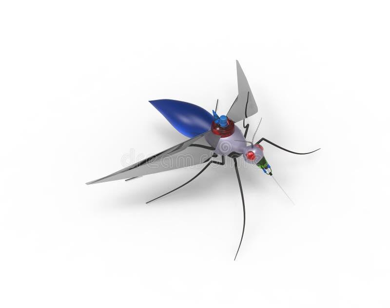 Robots futuristes de nano de moustique photo libre de droits