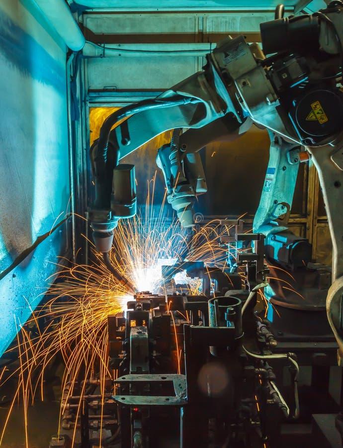 Robots het lassen stock foto's