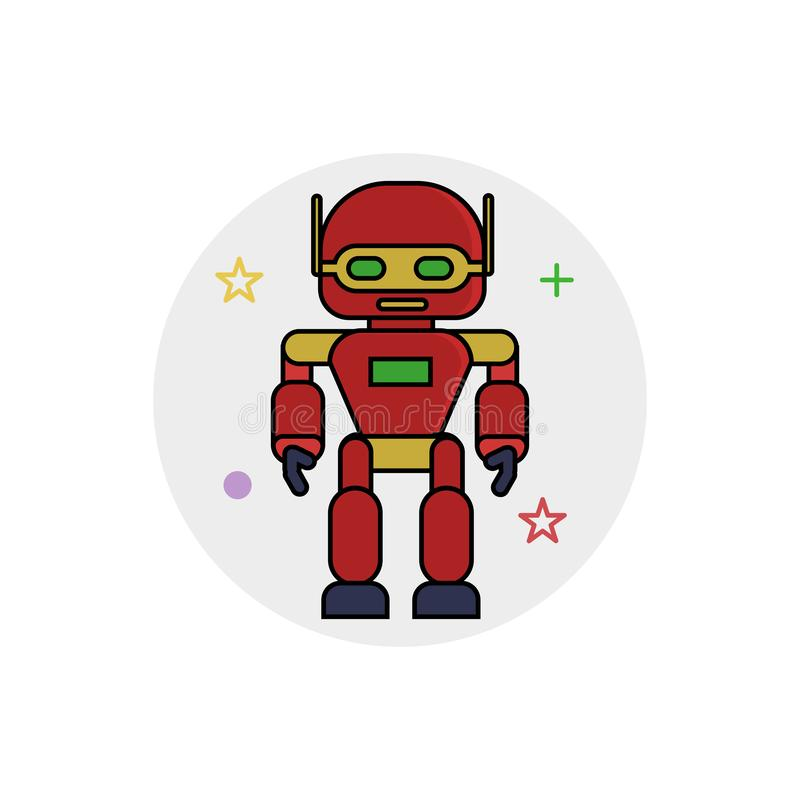 Robots icon with Outline Filled Style stock illustration