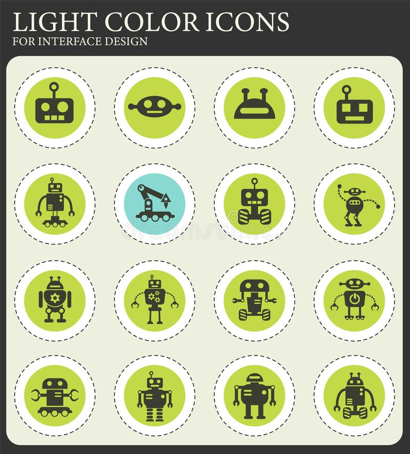 Robots icon set. Robots web icons for user interface design vector illustration