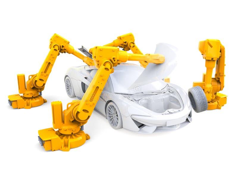 Robots industriales stock de ilustración