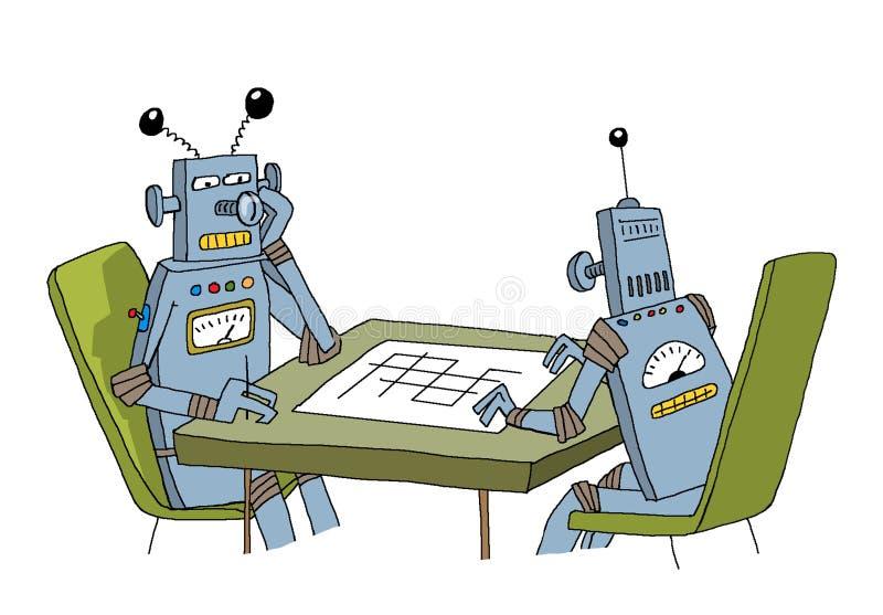 Robots jouant les uns avec les autres photo stock