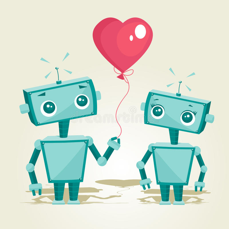 Download Robots in love stock vector. Illustration of antenna - 17737822