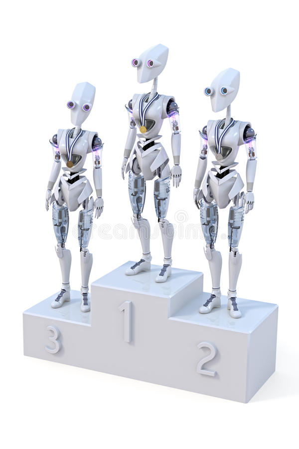 Download Robots with Medals stock illustration. Image of first - 25432111