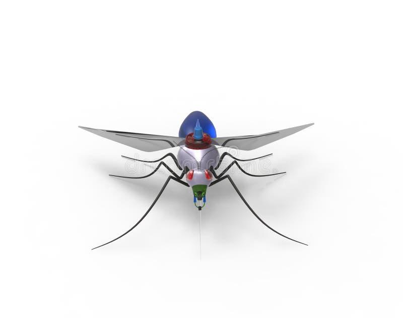 Robots nanos del mosquito futurista libre illustration