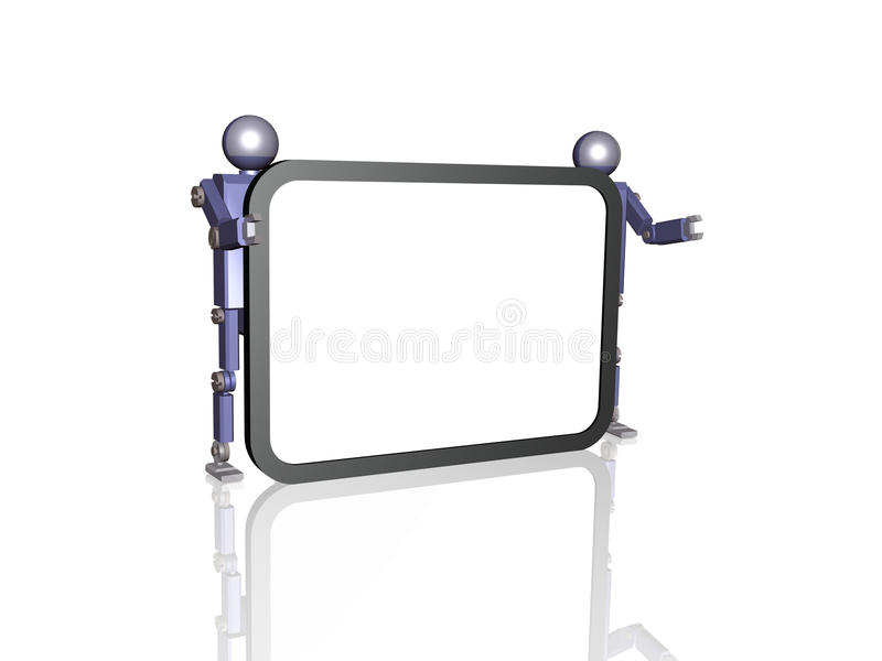 Download Robots and screen stock illustration. Image of speaker - 26057636