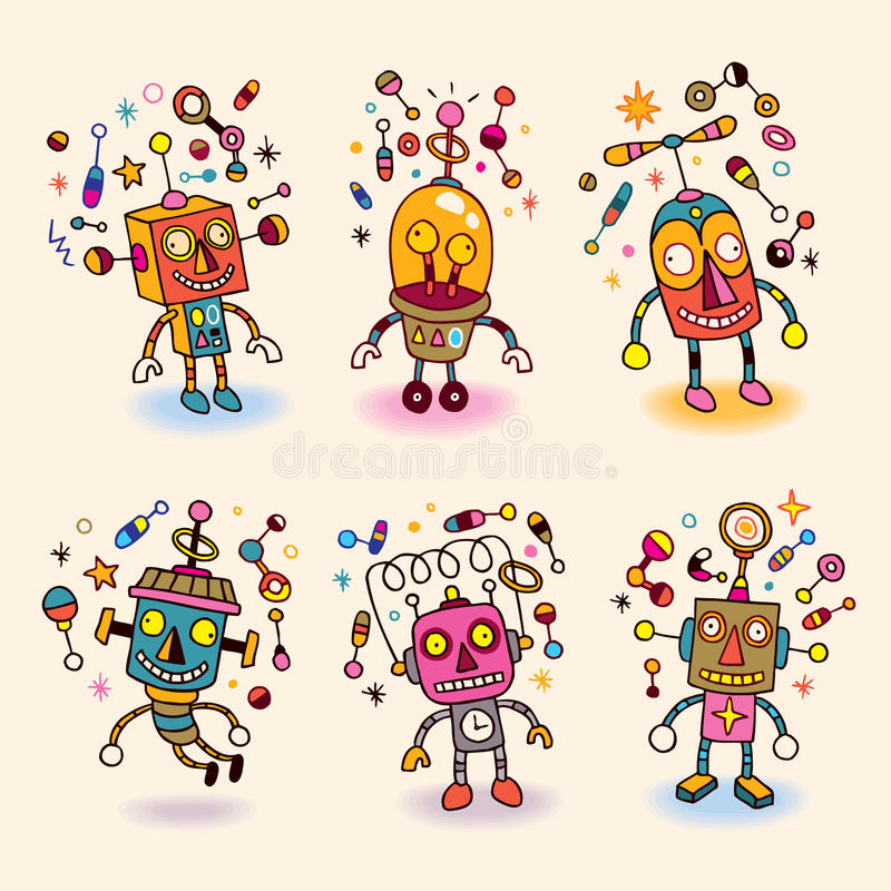 Download Robots set stock vector. Image of revival, illustration - 28401810