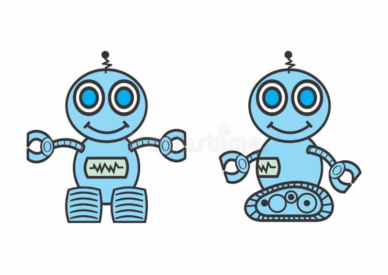 Robots sonrientes stock de ilustración