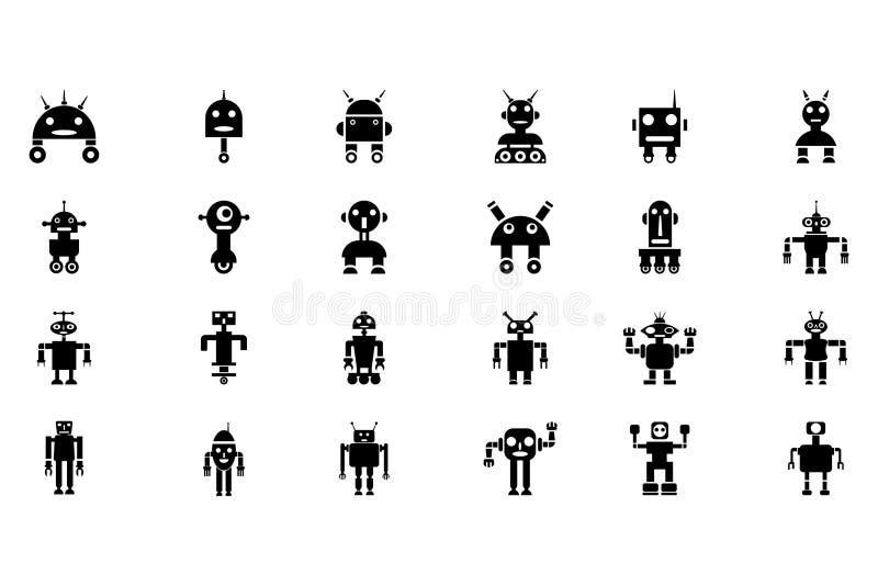 Robots Vectorpictogrammen 1 royalty-vrije illustratie