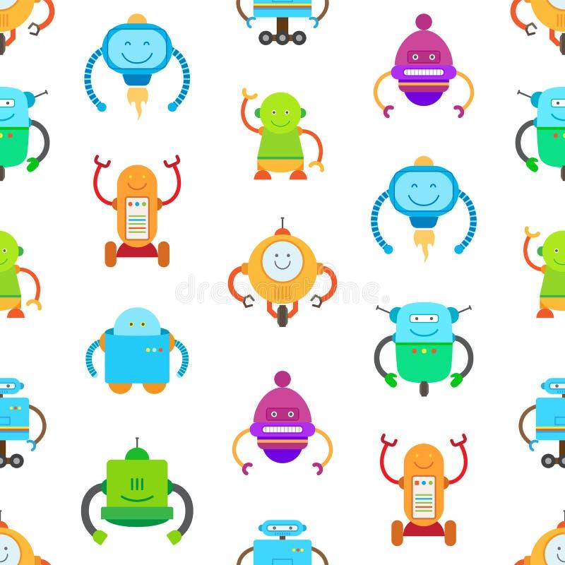 Robots y ejemplo inconsútil del vector del modelo ilustración del vector