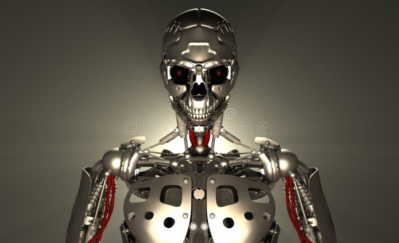 Robotsoldat vektor illustrationer