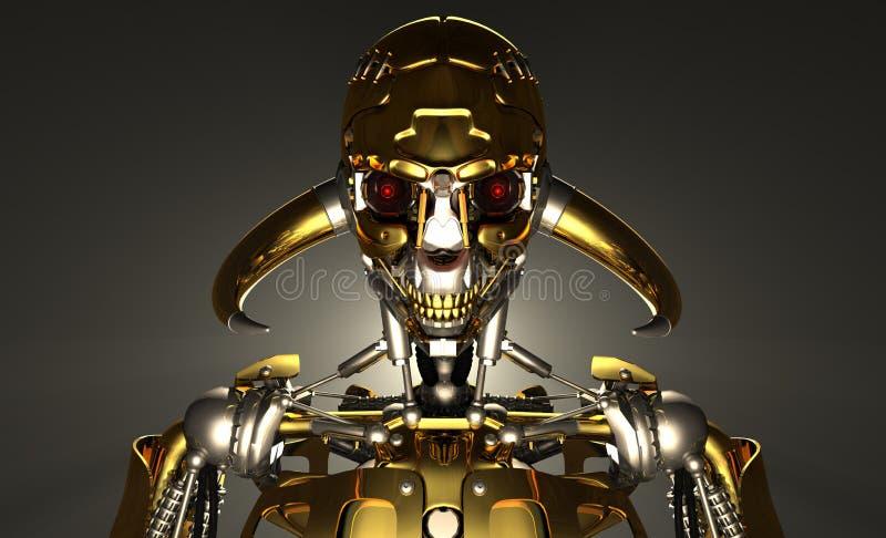Robotsoldat royaltyfri illustrationer