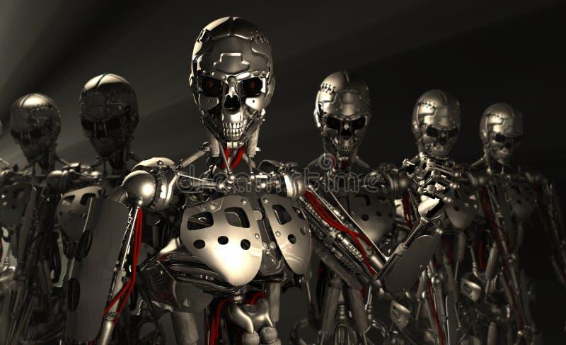 Robotsoldater stock illustrationer