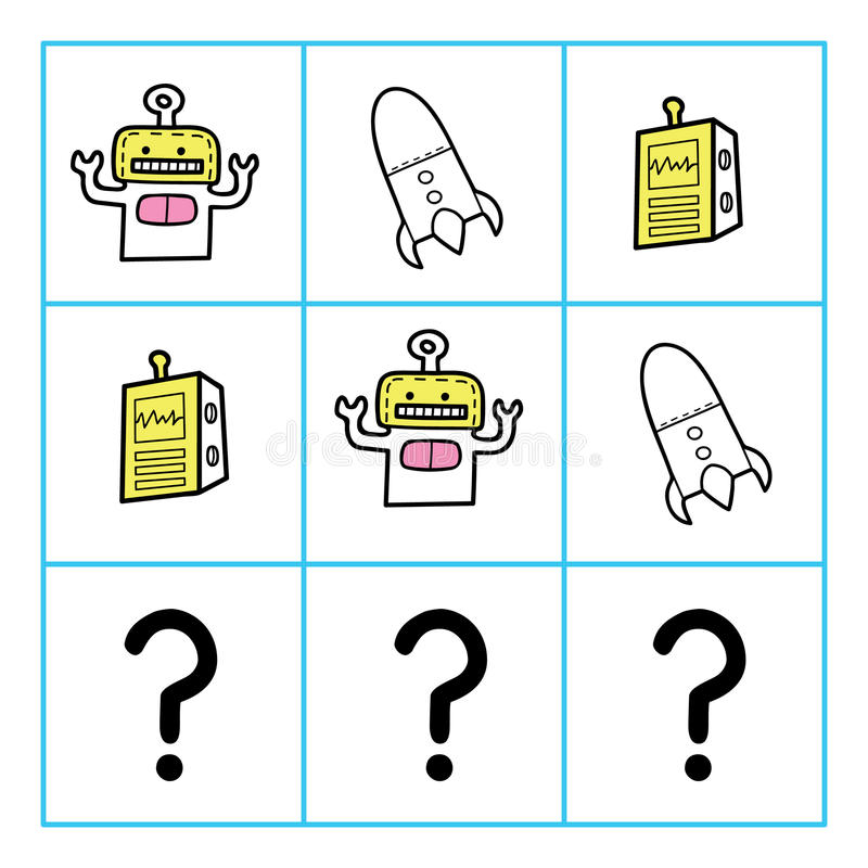Robotspel vector illustratie