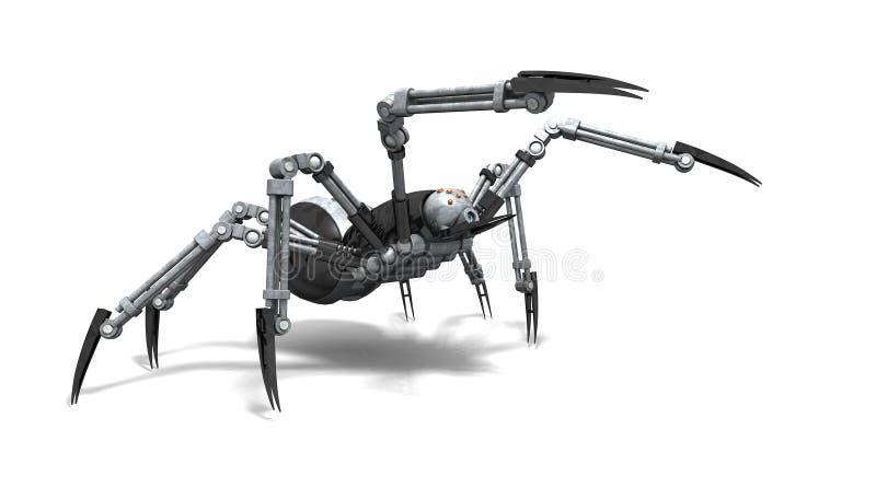 Robotspindel stock illustrationer