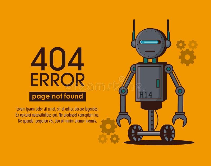 Robotstil för fel 404 royaltyfri illustrationer