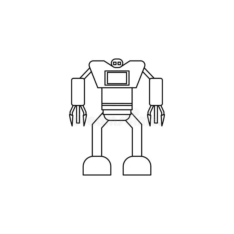 Robotsymbol Beståndsdel av den populära robotsymbolen Högvärdig kvalitets- grafisk design Tecken symbolsamlingssymbol för website royaltyfri illustrationer