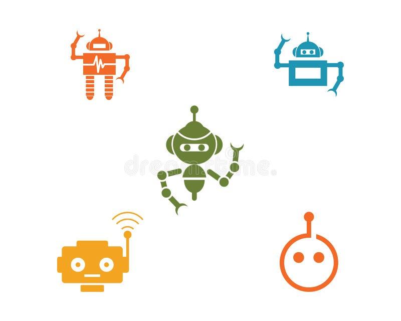Robotsymbolsvektor royaltyfri illustrationer
