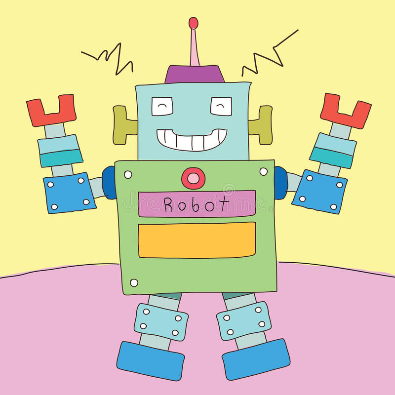 Robottecknad film royaltyfri illustrationer