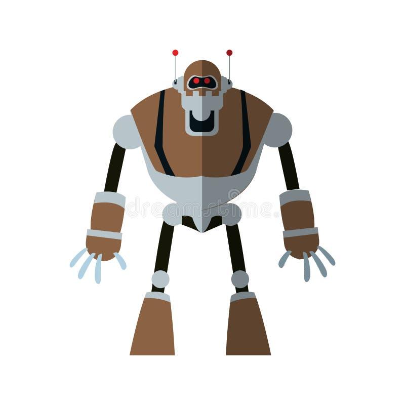 Robottecknad filmsymbol stock illustrationer