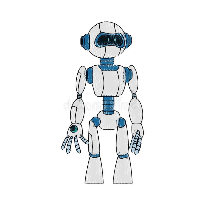 Robottecknad filmsymbol royaltyfri illustrationer