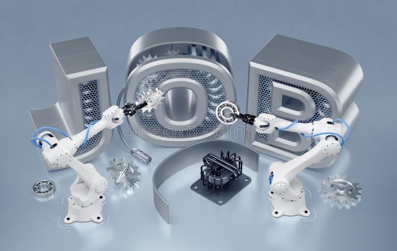 Robotteknikjobb stock illustrationer
