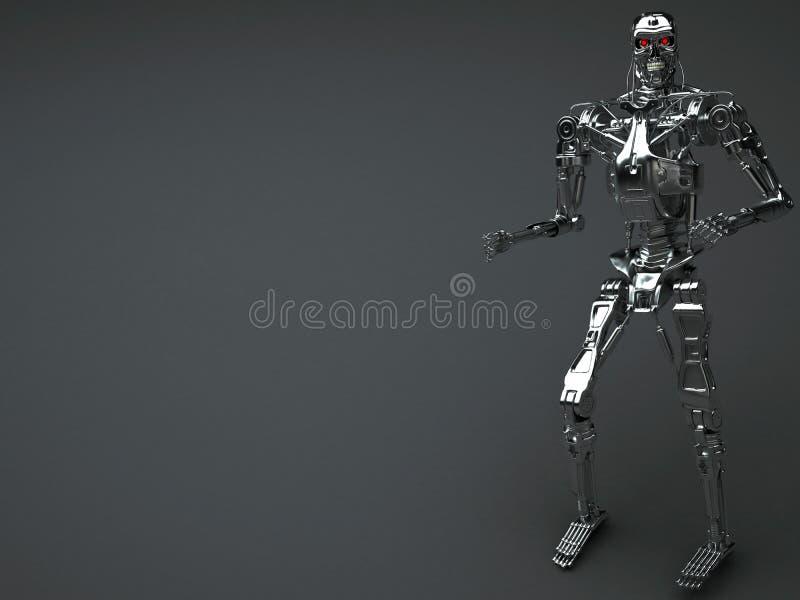 Robotterminator royaltyfri illustrationer