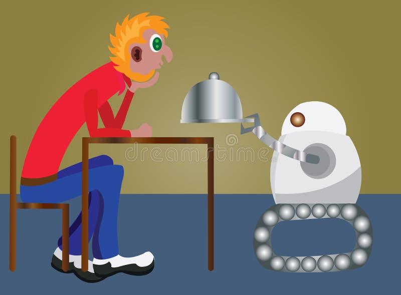 Robottjänare 2 stock illustrationer
