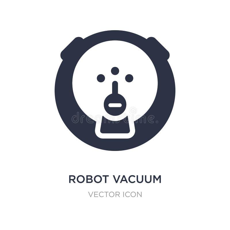 robotvakuumsymbol på vit bakgrund Enkel beståndsdelillustration från teknologibegrepp royaltyfri illustrationer