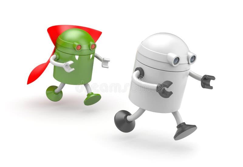 Robotvampyr - rov på offret royaltyfri illustrationer