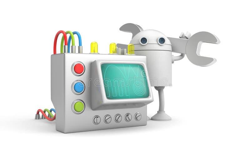 Robotwerktuigkundige met apparaat vector illustratie
