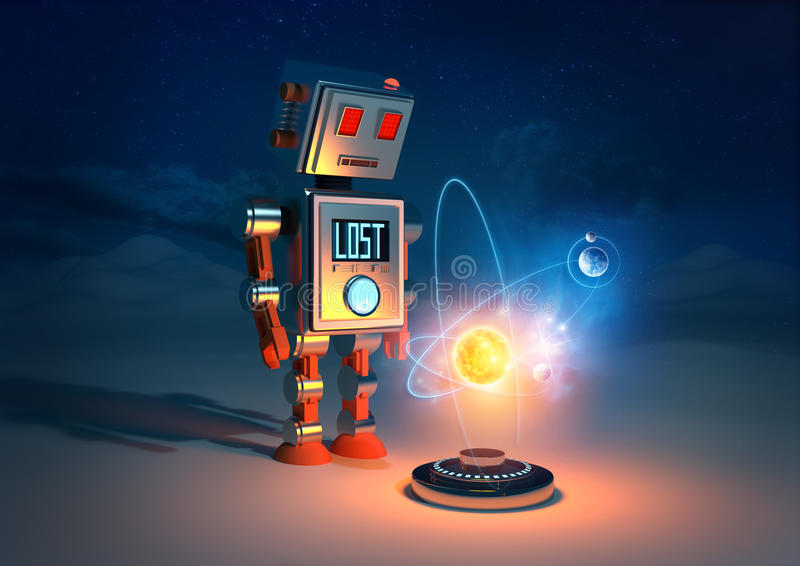 Roboty uczucia royalty ilustracja